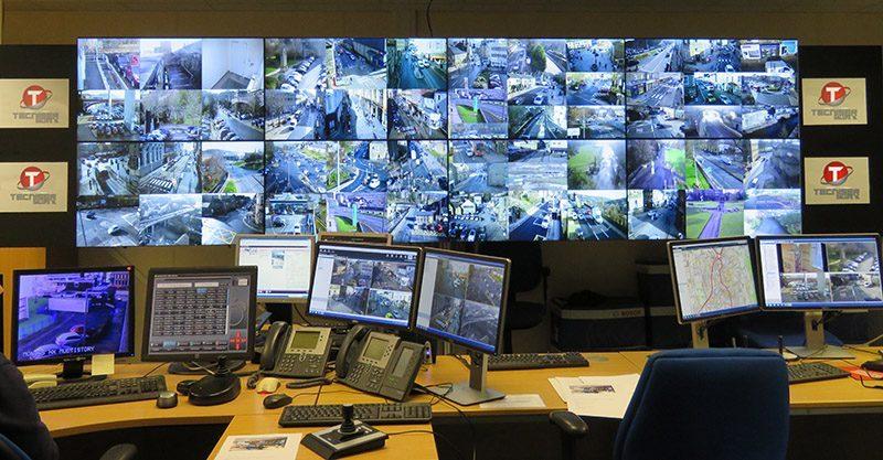 centro de control de pantallas para cctv